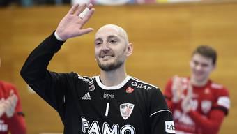 HSC-Torhüter Dragan Marjanac überzeugte beim 23:19-Sieg gegen St. Otmar St. Gallen mit einer Abwehrquote von 40 Prozent.