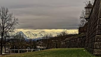 Am Neujahrstag grüssten Eiger, Mönch und Jungfrau die Solothurner Riedholzschanze