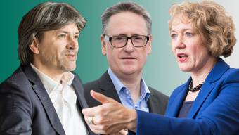 Sie alle wollen Stadtpräsident werden (von links nach rechts): Markus Bärtschiger (SP) in Schlieren, Roger Bachmann (SVP) in Dietikon und Corine Mauch (SP) in Zürich.