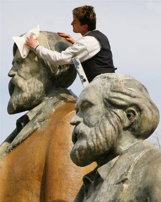 Ihre Ideen bleiben aktuell: Vordenker des Sozialismus Friedrich Engels und Karl Marx. AFP