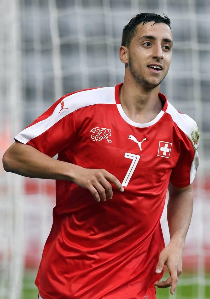 João Oliveira schoss die zwei Schweizer Tore gegen Deutschland.