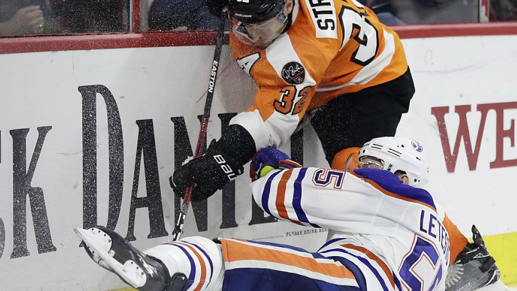 Mark Streit (oben) steht den Philadelphia Flyers verletzungsbedingt rund zwei Wochen nicht zur Verfügung