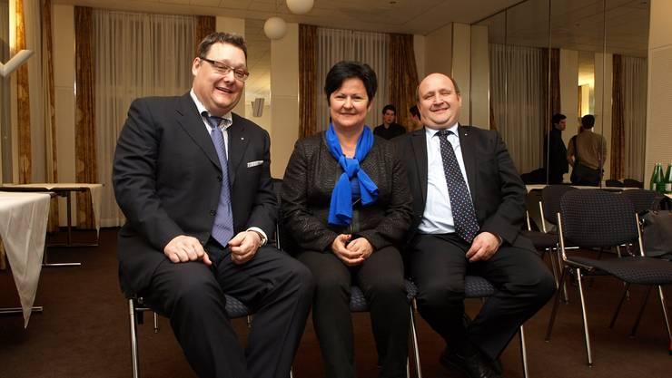 Kandidaten: Von links Marc Thommen (Nationalrat), Marianne Meister (Ständerat) und Peter Hodel (Nationalrat).
