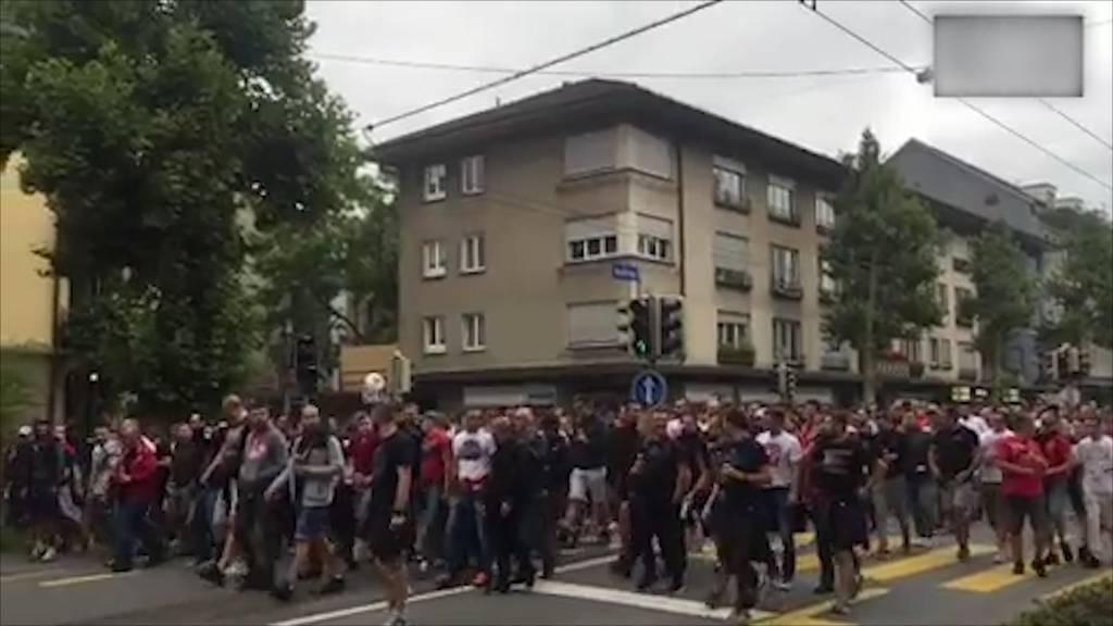 Fünf Verletzte bei Belgrad-Fanmarsch