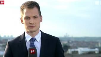 Fast täglich zugeschaltet: Jonas Projer aus Brüssel. Screenshot