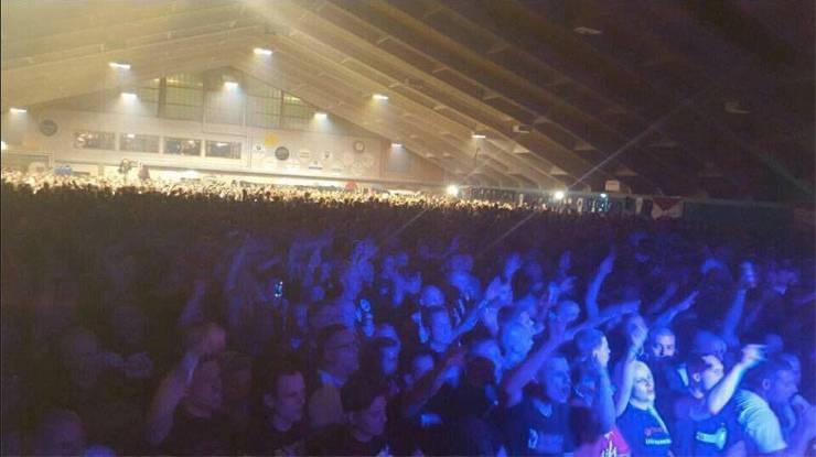 Neonazis bei einem Konzert 2016 im Toggenburg. Hier soll auch Kevin G. mit «Amok» aufgetreten sein.