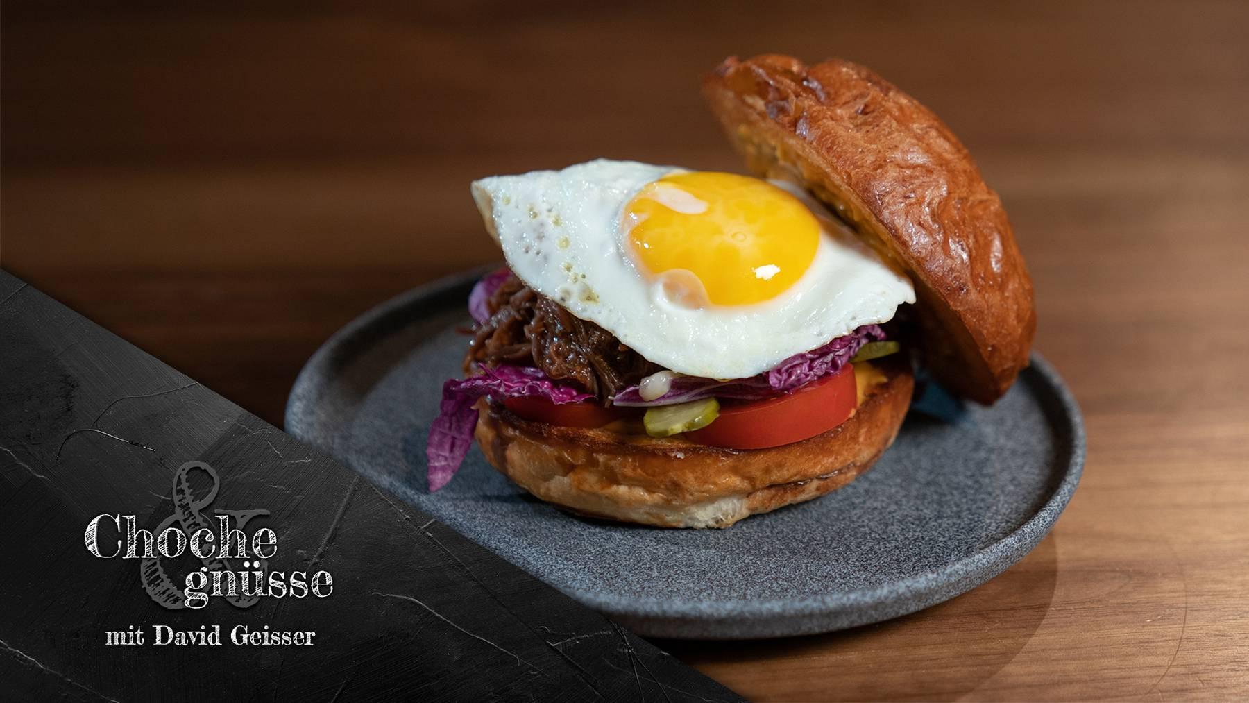 Choche & gnüsse mit David Geisser, Pulled Beef Burger