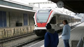Während fünf Nächten verkehren auch am Bahnhof in Stein keine Züge. archiv