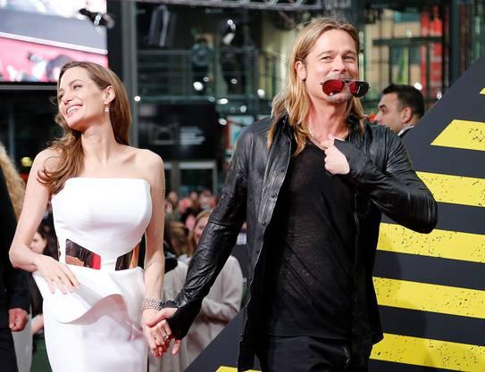 Brad Pitt und Angelina Jolie an der Premiere zu World War Z in Berlin (6)