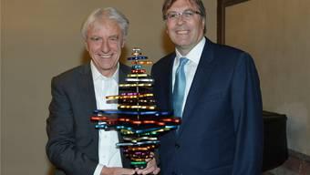 Emil Steinberger (links) stehe für die Vielfältigkeit der Schweiz, lobt Jean-Michel Cina.
