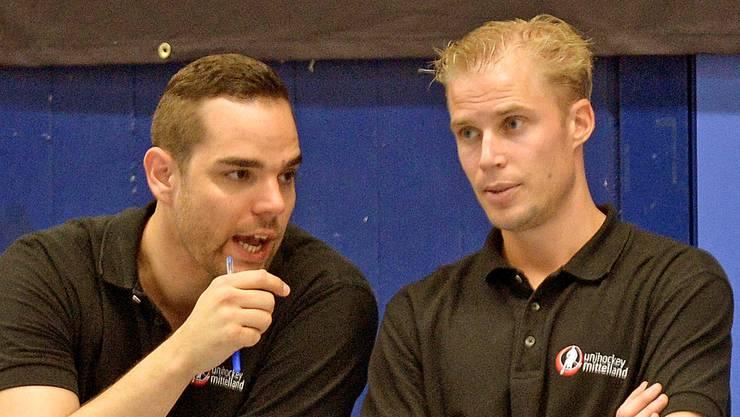 Bisher hat die Mannschaft von Mittellands Trainerduo Daniel Moser (links) und Olle Thorsell ihr Potenzial noch nicht vollends ausgeschöpft.