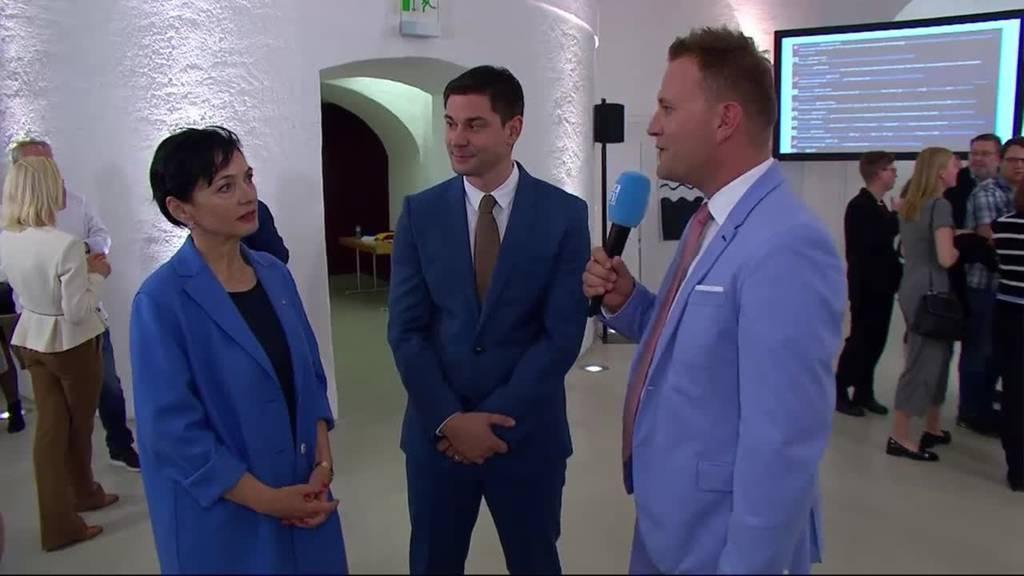 Marianne Binder (CVP) und Benjamin Giezendanner (SVP) zu ihren Wahlerfolgen