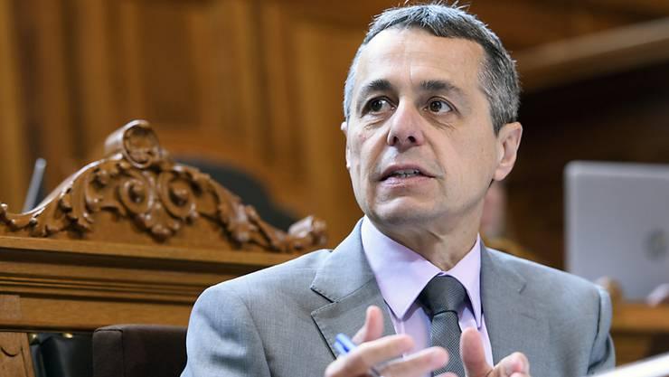 Erhofft sich eine bessere Verhandlungsposition mit der EU: Ignazio Cassis.