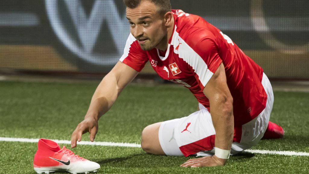 Xherdan Shaqiri droht für die WM-Qualifikationsspiele gegen Andorra und Lettland auszufallen