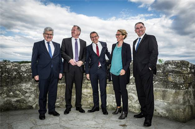Roland Brogli, Stephan Attiger, Urs Hofmann, Susanne Hochuli, Alex Hürzeler.