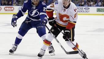 Sven Bärtschi (am Puck) nimmt in Vancouver neuen Anlauf für die NHL