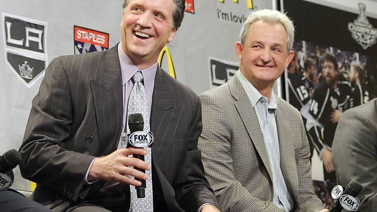 Die Los Angeles Kings entliessen sowohl ihren General Manager Dean Lombardi (links) als auch Trainer Darryl Sutter (rechts)