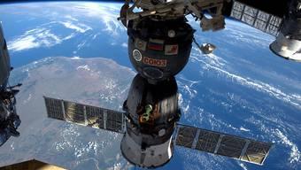 Die Internationale Raumstation ISS beim Flug über Madagaskar (Archiv)