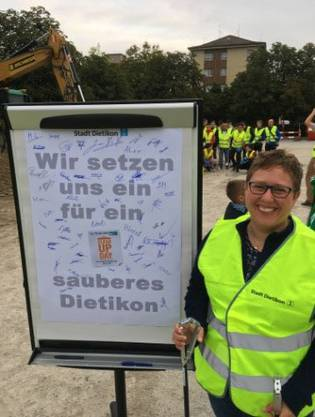 Manuela Ehmann, Initiantin des Clean-up-Day in Dietikon