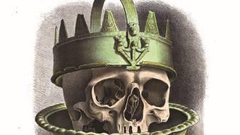 Eine vermeintliche Krone aus einem frühmittelalterlichen Grab im deutschen Xanten. Zeichnung von 1839.