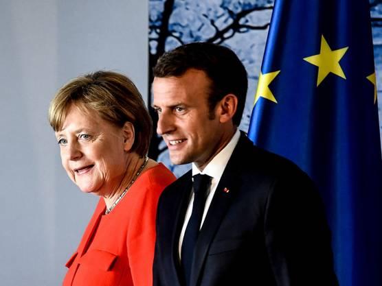 Angela Merkel und Emmanuel Macron in Meseberg. Juni 2018.