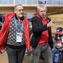 Guy Parmelin (links) mit Nicolas Bideau, Leiter von Präsenz Schweiz, im House of Switzerland