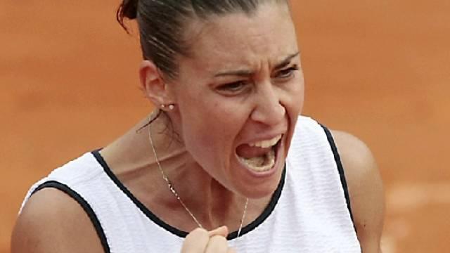 Flavia Pennetta punktet für Italiens Fed-Cup-Team.