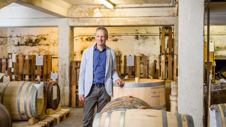 Die Spezialitätenbrennerei Humbel aus Stetten feiert ihr 100-Jahr-Jubiläum. Geschäftsführer Lorenz Humbel führt die Brennerei in dritter Generation.