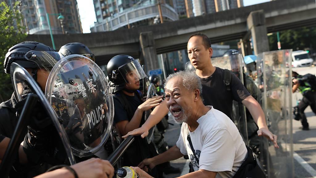 Erneut Zusammenstösse mit Polizei bei Protesten in Hongkong