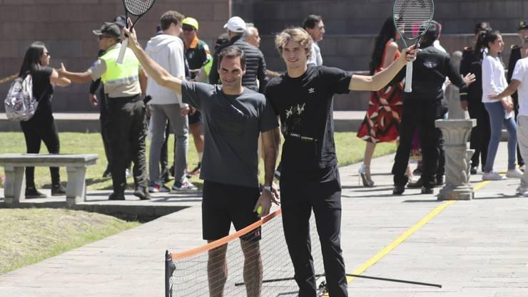 Roger Federer (links) und Alexander Zverev erlebten eine tolle Zeit in Lateinamerika