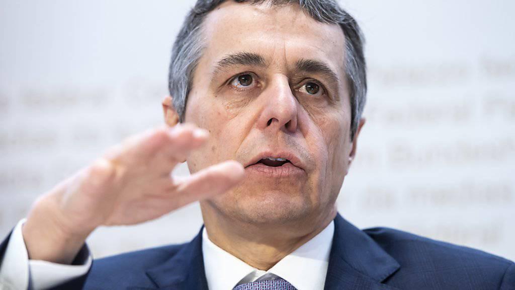 Solidarisch zu sein, sei im Interesse der Schweiz, sagte Aussenminister Ignazio Cassis vor den Medien. Er präsentierte seine Pläne für die Entwicklungszusammenarbeit.