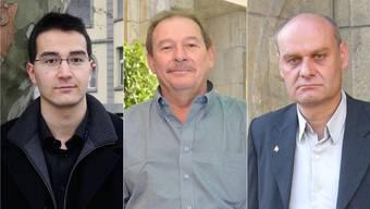 Die drei amtierenden SVP-Gemeinderäte Richard Aschberger, Marc Willemin und Ivo von Büren.