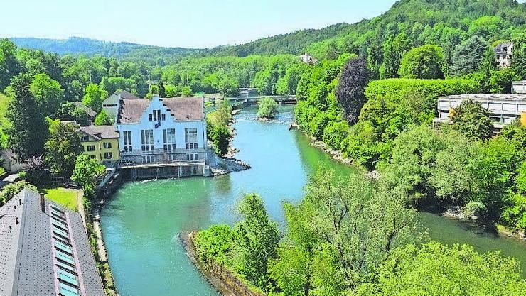 1835: Bau der Spinnerei in der «Au Baden», seit 1995 Teil der Limmatkraftwerke AG.