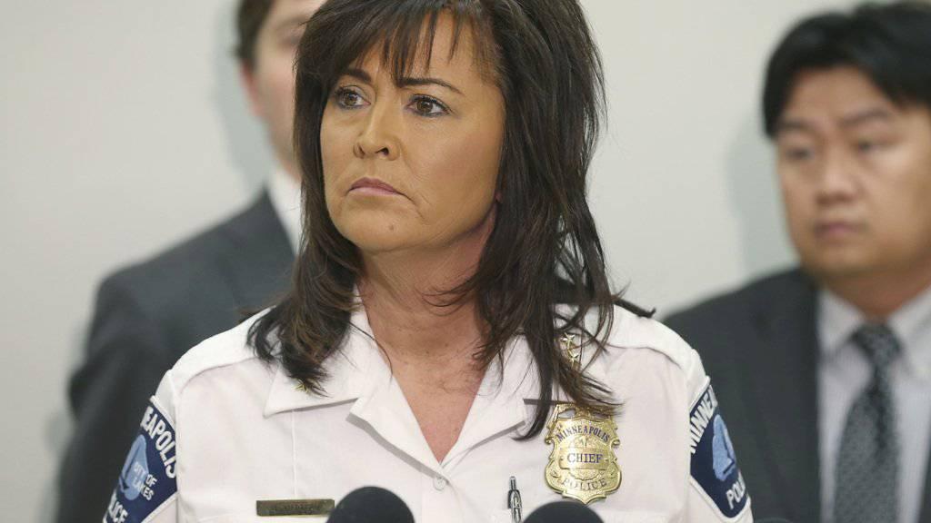 Hat nach Gewalt im Polizeicorps das Vertrauen der Bürgermeisterin verloren: Die Polizeichefin der US-Stadt Minneapolis, Janee Harteau. (Archivbild)