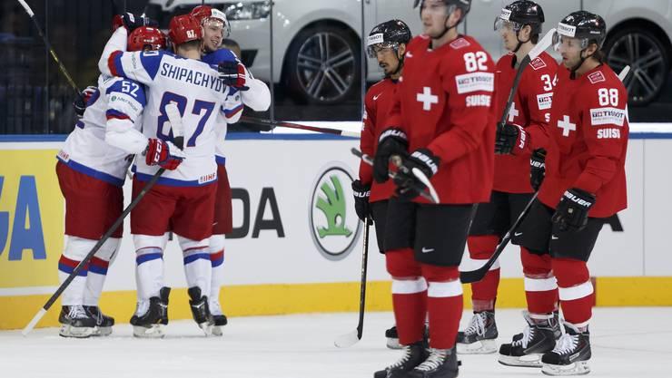 Die Schweizer gehen zum Auftakt der Eishockey-WM gegen Russland klar unter