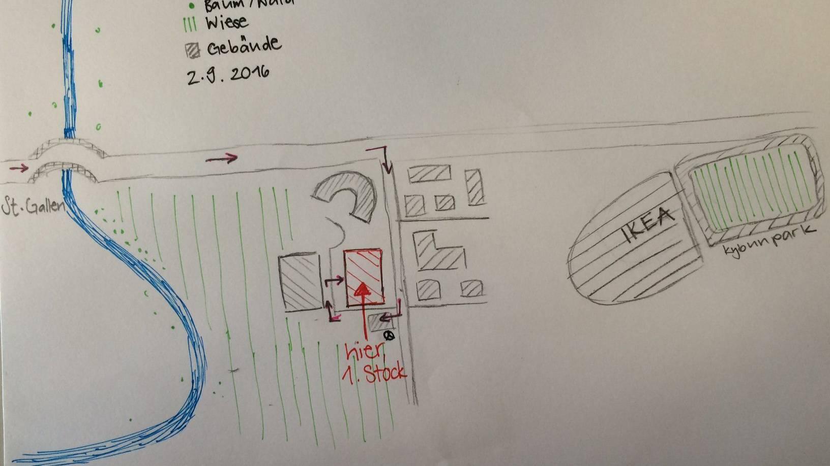 Auch eine Zeichnung der Umgebung könnte einen Brief an sein Ziel bringen.