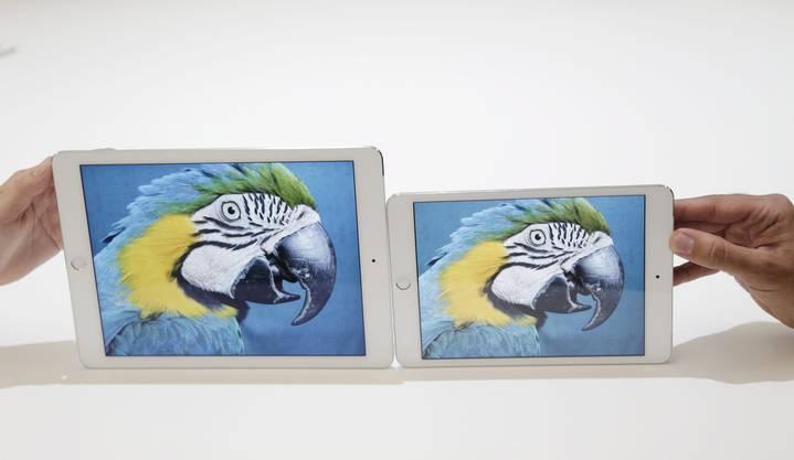 Das iPad Air 2 mit 16 GB gibts für 549 Franken, jenes mit 64 GB für 659 Franken und das mit 128 GB für 769 Franken. Das iPad 2 Air mini kostet zwischen 439 und 659 Franken.