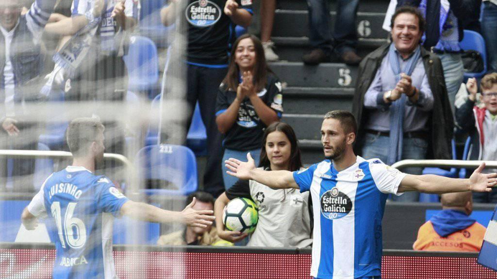 Siegtorschütze für La Coruña: Florin Andone