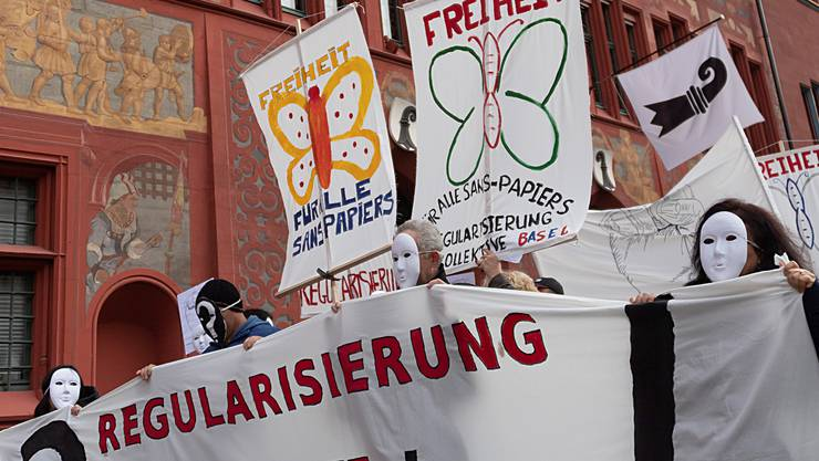 2018 demonstrierten Sans-Papiers in Basel für die Regularisierung ihres Aufenthaltsstatus. Nächste Woche gehen sie erneut auf die Strasse.