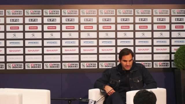 Roger Federer auf französisch über den nächsten Gegner Gilles Simon