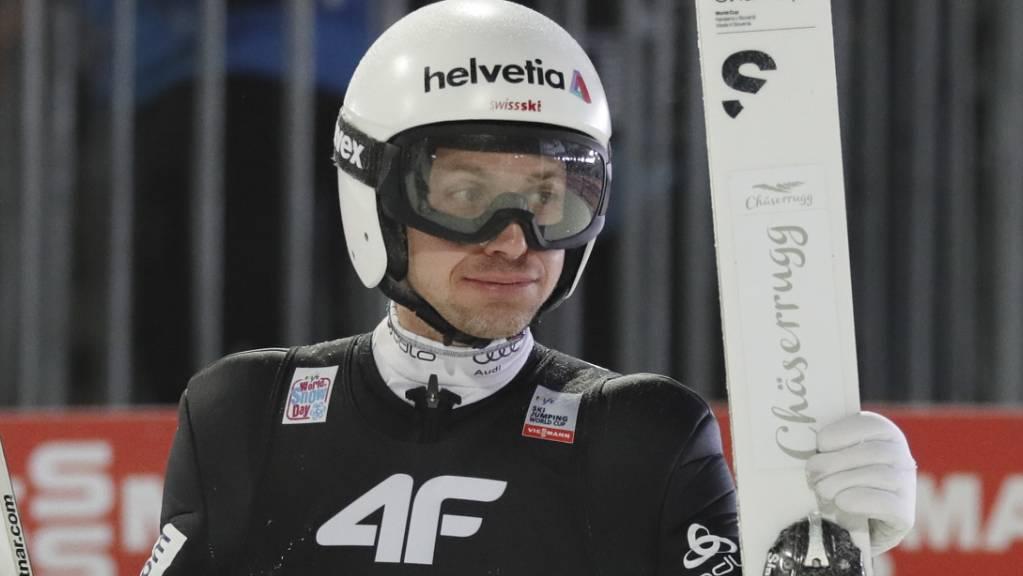 Kein Grund zum Strahlen: Simon Ammann verpasst den Finaldurchgang. (Archivaufnahme)