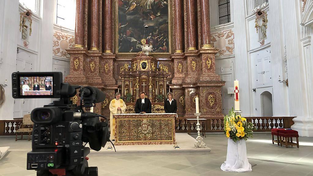 Gottesdienst im Tele 1: Die drei Luzerner Landeskirchen spannen an Weihnachten zusammen – wie bereits an Ostern. (Im Bild)