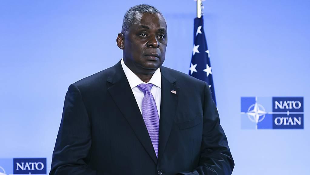 Lloyd Austin, Verteidigungsminister der USA, kommt zu Gesprächen ins NATO-Hauptquartier. (Archiv)