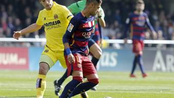 Barcelonas Neymar (rechts) in Villarreal von Manu Trigueros und Co. gestoppt