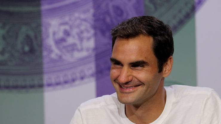 Roger Federer darf in diesem besonderen Jahr gute Laune zeigen