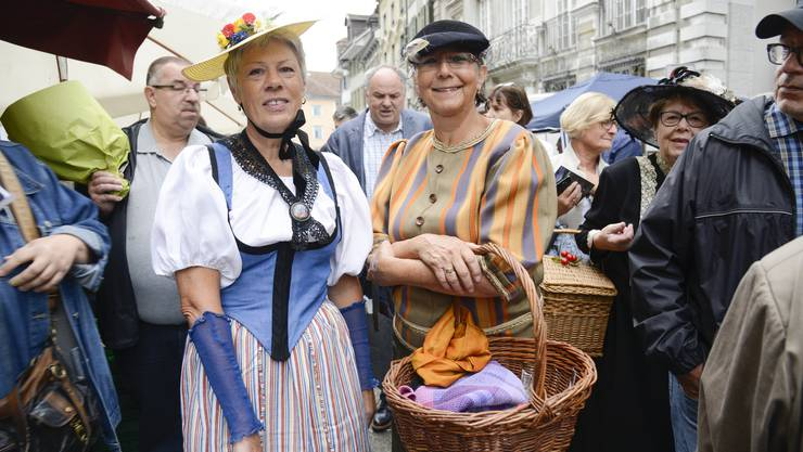 Impressionen vom historischen Märet in Solothurn.