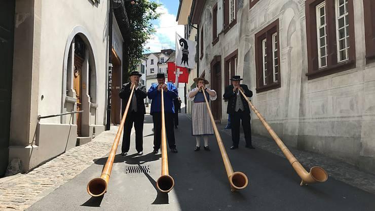 Schon einmal schallen Alphornklänge durch Basel: Die Stadt ist für das Eidgenössische Jodlerfest parat.