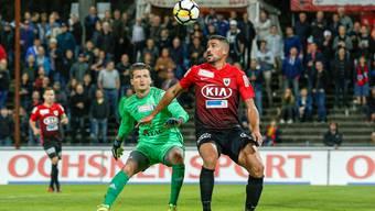 Alessandro Ciarrocchi gelingt gegen den FC Wohlen mit Torhüter Flamur Tahiraj die beste Leistung der Saison.