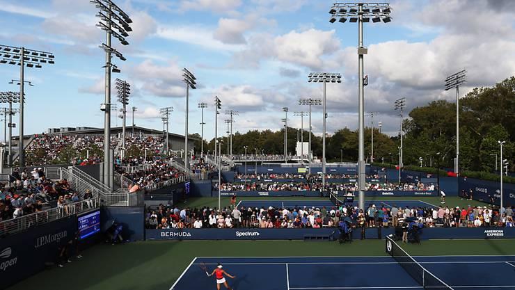 Auf dem Aussenplatz 13 auf verlorenem Posten: Viktorija Golubic scheiterte am US Open in der 1. Runde