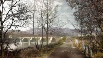 So soll das Stauwehr Winznau nach der Sanierung aussehen. Der Oberbau kommt weg, eine neue Wehrbrücke steht auch Velofahrern offen.